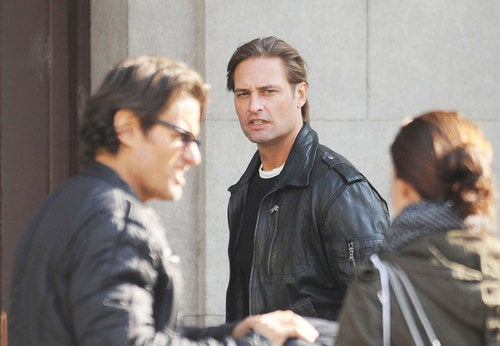 Josh Holloway on the set of Mission Impossible IV