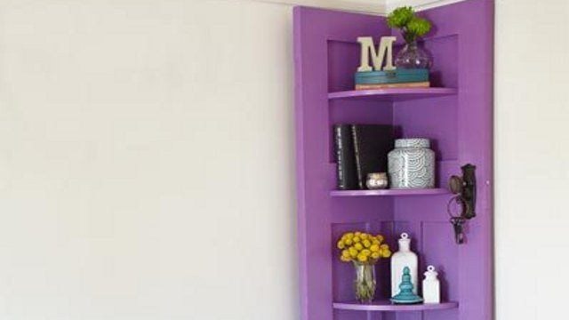 Repurpose an Old Door Into a Corner Shelving Unit