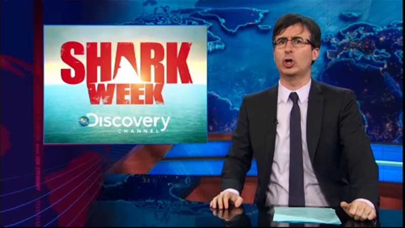 John Oliver Is Seriously Pissed About That Fake Shark Week Documentary