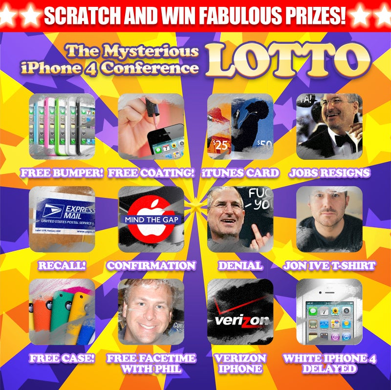 Play the iPhone 4 Conference Scratch Lotto and Get a Free Pizza