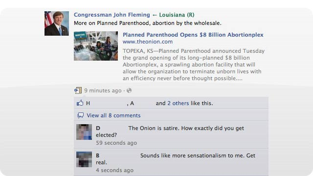 A Congressman Thinks The Onion Is a Real News Source