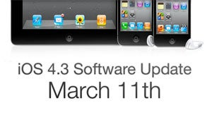 iOS 4.3 Update Coming March 11th