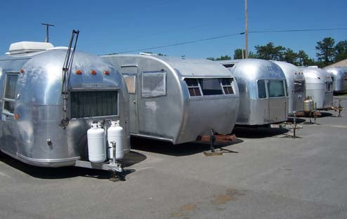 Vintage Trailers Brought Back To Life At Former Air Force Base