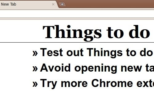 Things To Do Turns Chrome's New Tab Page into a To-Do List