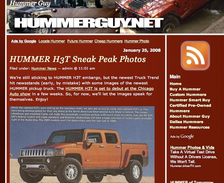 2009 Hummer H3T Coming to Chicago via Truck Trend Mag Early Reveal