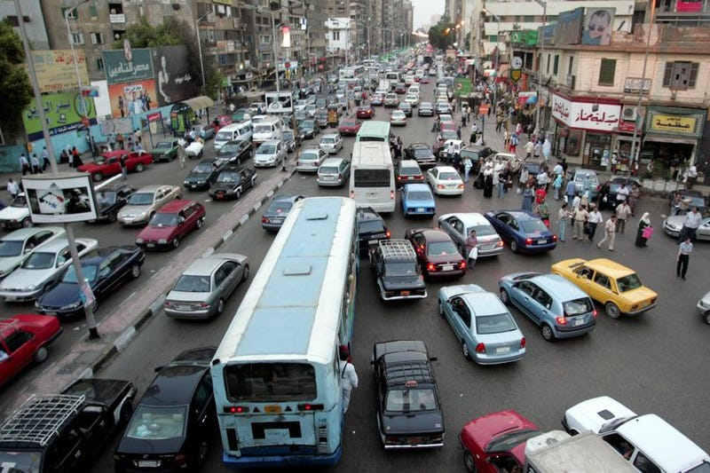 Driving On Cairo's Congested Roads