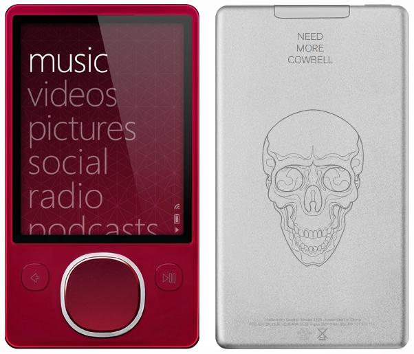 Red Zune 80 Now Customizable via Zune Originals