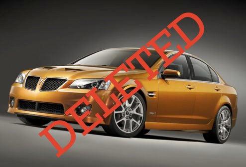 Pontiac To Kill RWD G8 After Current Generation