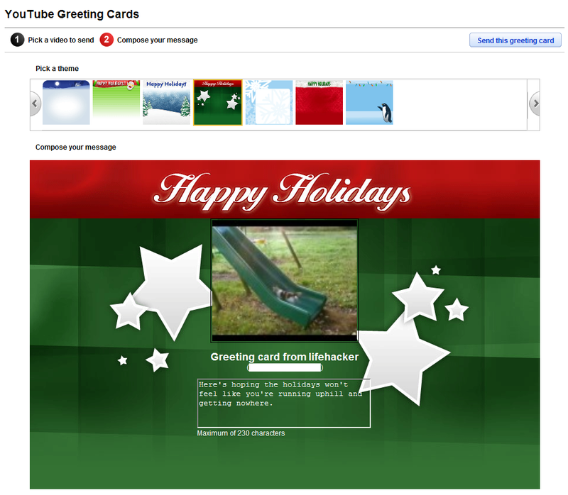 Turn a YouTube Clip into a Holiday Greeting Card