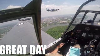 Emergency Landing Cockpit Footage From The WWII DC Flyover
