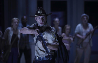 The Walking Dead season finale goes out with a bang