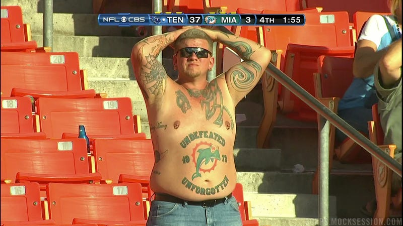 Go Home, Everybody: We Found The Most Ridiculous Fan In The World