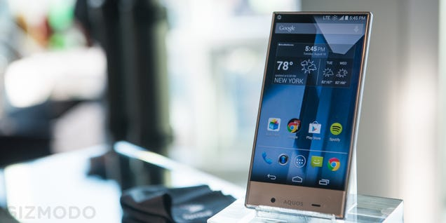 Sharp Aquos Crystal Hands On: No Bezel, All Beauty