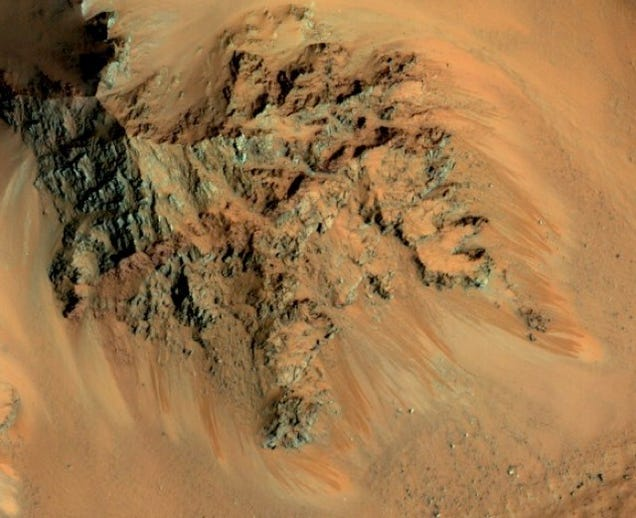 This Mountain On Mars Is Leaking