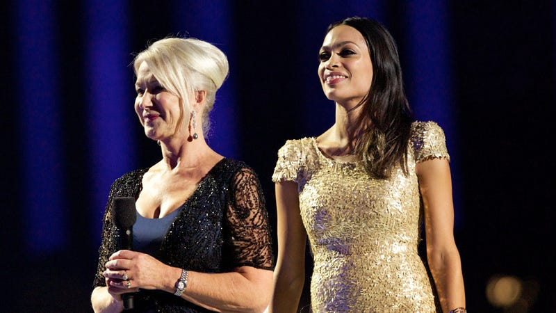 Helen Mirren And Rosario Dawson Gaze Meaningfully Into The Distance