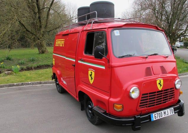 Niki lauda 39 s ferrari van from rush is up for grabs for Garage renault rots