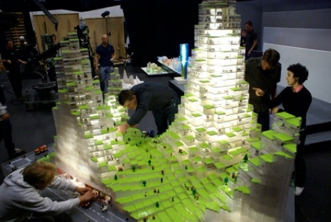 Architect makes Scale Model of Housing Proposal in Lego
