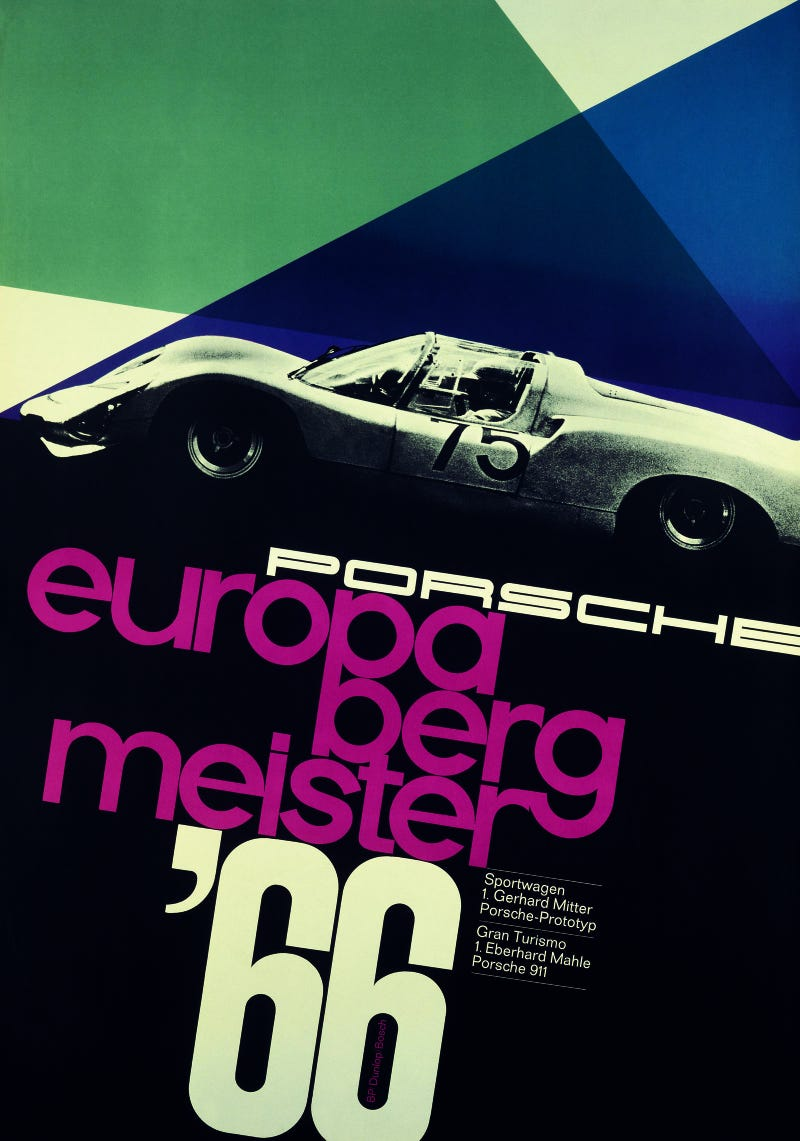 Gallery: The 38 Coolest Racing Posters On Porsche's Press Site