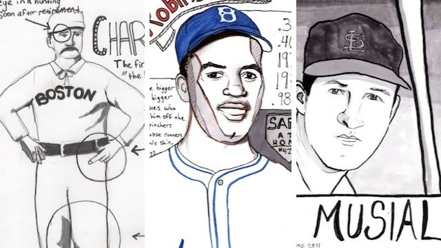 A Sampling From One Artist's Effort To Draw All 295 Members Of The Baseball Hall Of Fame