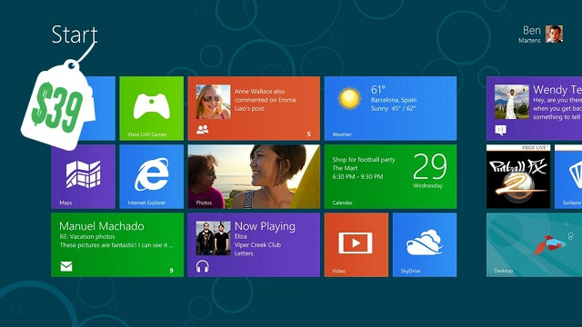 Windows 8 Will Be a $39.99 Upgrade for XP and Above