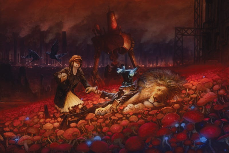 A steampunk Wizard Of Oz and iconic Star Wars poster art win 2010 Chesley Awards!