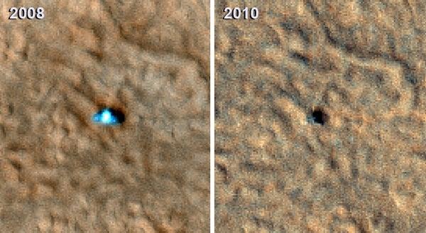 The Mars Phoenix Lander Is But a Dead, Black Dot