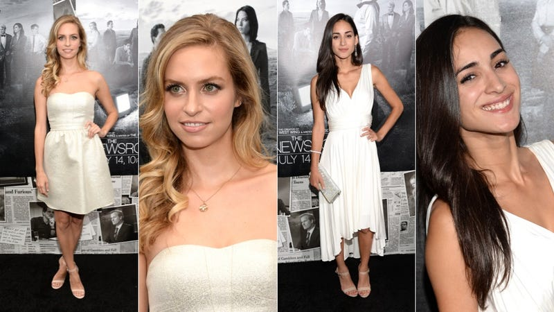 Cute White Dresses and Bizarre Black Lace at the Newsroom Premiere