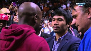 Mayweather And Pacquiao Meet For The First Time