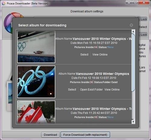 Picasa Album Downloader Snags Entire Albums in a Few Clicks