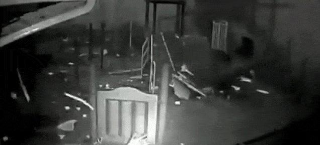 Watch a tornado destroy a children's playground
