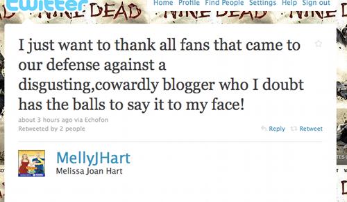 Melissa Joan Hart Denounces Cowards, Kanye Drinks Juice