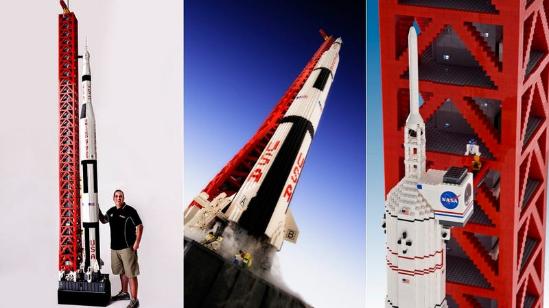 Even at Minifig Scale, This LEGO Saturn V Rocket Is Ginormous