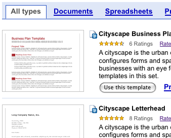 Google Docs Template Gallery Launches