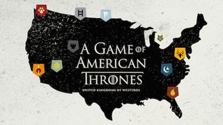 A map of <em>Game of Thrones</em> if it was set in the USA