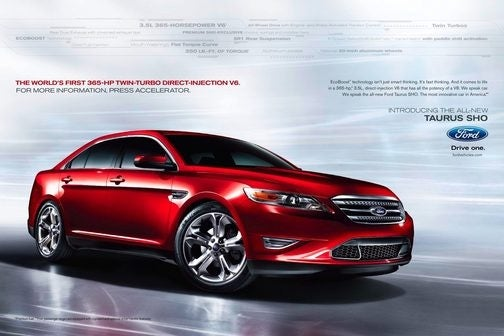 Ford Taurus, SHO Ad Campaign More About Toys, Less About Driving