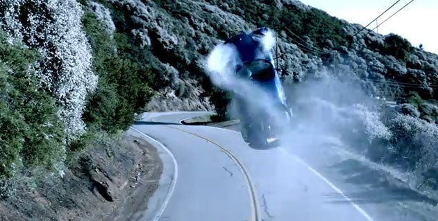 Dr. Dre wipes out in his Ferrari... for art