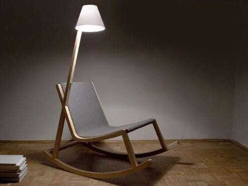 Rocking Chair Powers Its Attached OLED Lamp Just by Rocking