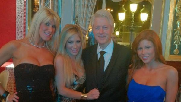 Bill Clinton Had His Picture Taken with Some Porn Stars and of Course It's All About Hillary
