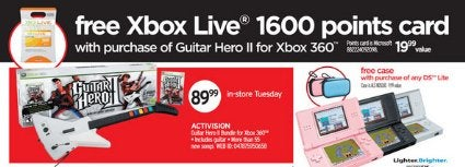 Dealzmodo: Guitar Hero II for 360 With Free 1600 Microsoft Points