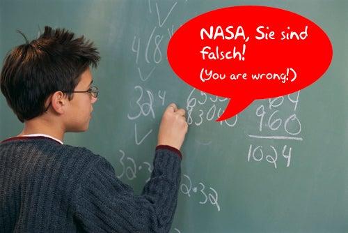 German Schoolboy Corrects NASA's Math - We're All Doomed