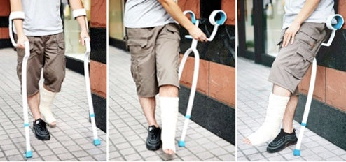 Crutch Chair Design Transforms for Impromptu Sitting