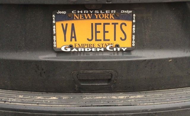 "Behold, The ""Ya Jeets"" License Plate"