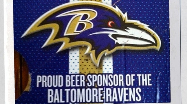 "Miller Lite Is The Proud Beer Sponsor Of The ""Baltomore Ravens"""
