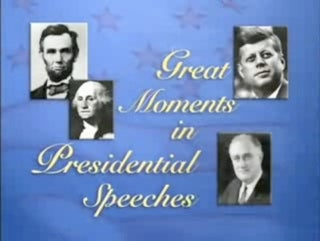 "Farewell, ""Great Moments In Presidential Speeches"""