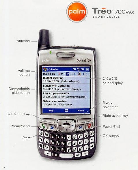 Yawn...More Palm Treo 700wx Leaks (Spec Sheet)