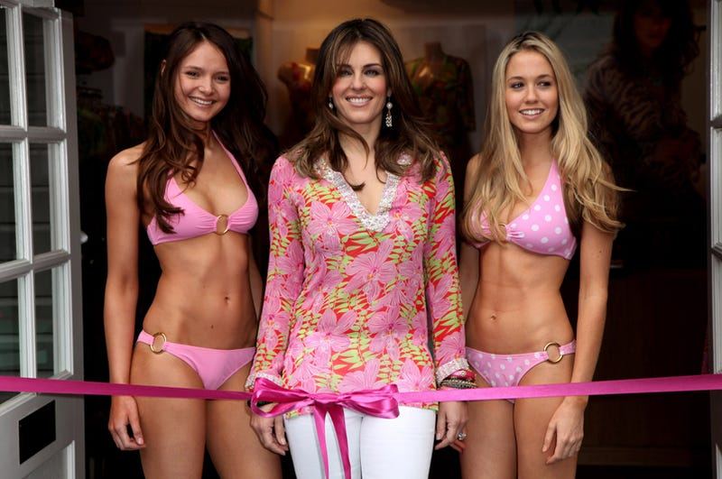 Liz Hurley Is All Tied Up