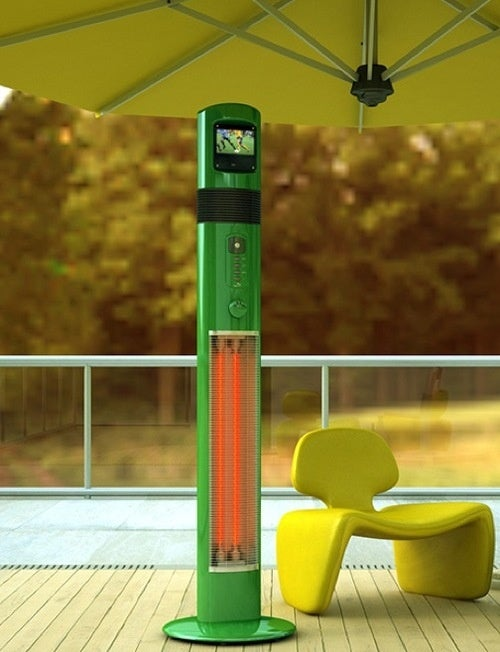 Giant Patio Heaters With Tiny Media Players Are Finally a Reality