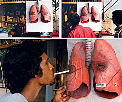 Blackened-Lungs Cigarette Lighter Really Rubs Your Face in It