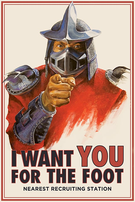 Shredder goes Uncle Sam in Foot Clan recruitment poster