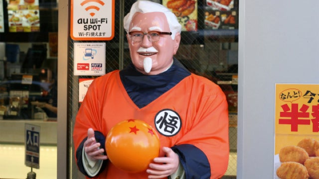 Colonel Sanders Dressed in Dragon Ball Z, Doesn't Unleash a Kamehameha